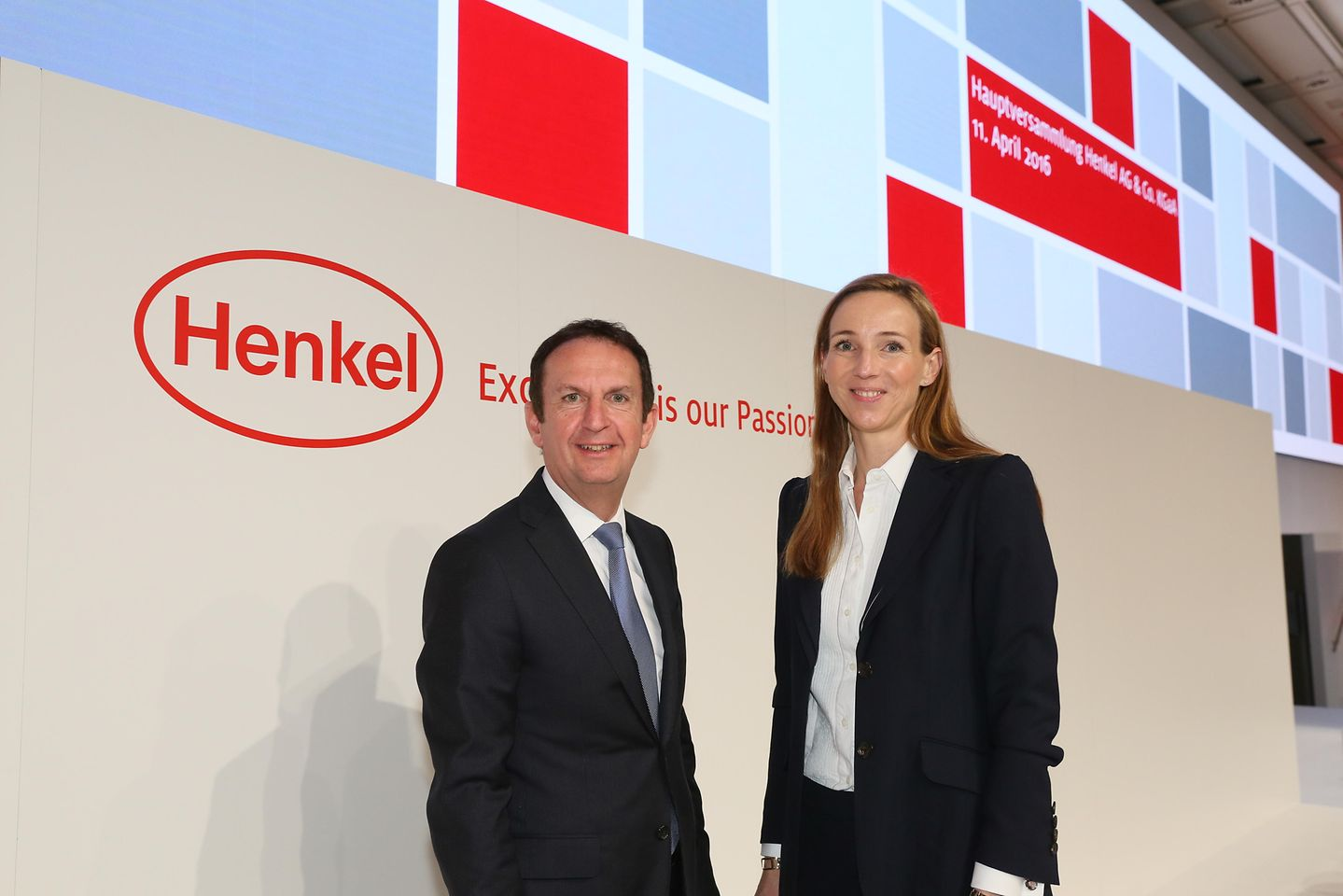 CEO Hans Van Bylen and Dr. Simone Bagel-Trah, Chairwoman of Henkel's Supervisory Board