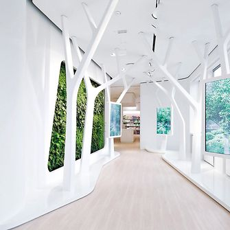 Image of the Sustainability wall in the  Global Experience Center at Henkel Headquarters.