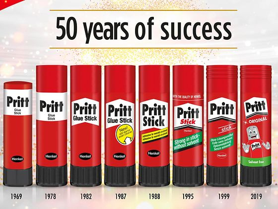 Celebrating Pritt's 50th golden anniversary