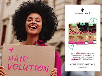 Only Love, Schwarzkopf's new permanent hair coloration free from ammonia, silicone and alcohol